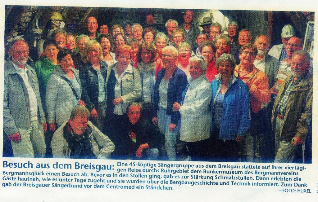 Breisgauer Sängerbund zu Besuch